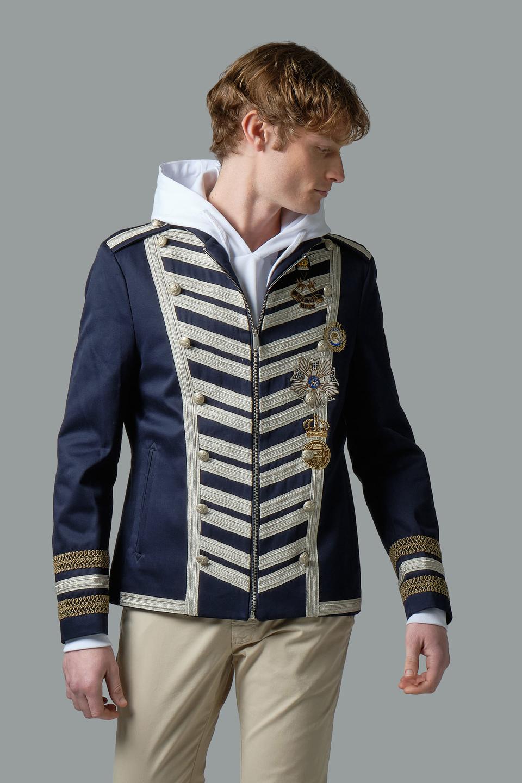 Zip-up cotton blazer - La Martina - Official Online Shop