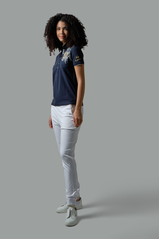 Regular-fit sequin polo shirt - La Martina - Official Online Shop